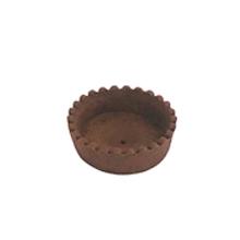 Base para mini torta chocolate - circular 7cm