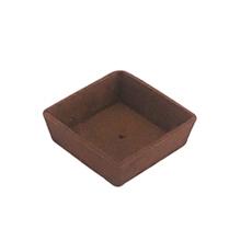 Base para mini torta chocolate - quadrado 7cm