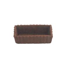 Base para mini torta chocolate - quadrado 8x4cm